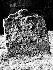 Eighteenth Century tombstone at Holy Cross, Wallsend