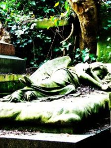 Green angel, Highgate Cemetery