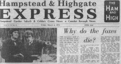 The Ham and High Gazette from March 1970
