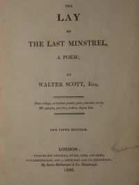 Lay of the Last Minstrel 1806 Ed