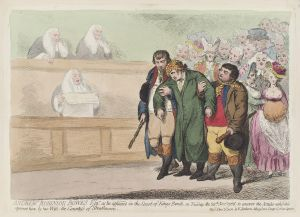 Stoney Bowes at the Court of Kings Bench, James Gillray