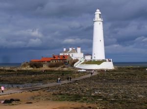 St Mary's Island at low tide.  Image by Jim Blakeley.