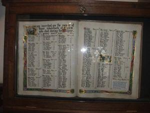 Parish records of the plague