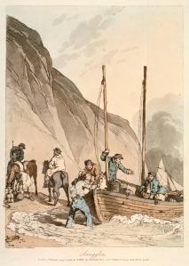Smugglers by John Atkinson.  Public domain via Wikimedia.