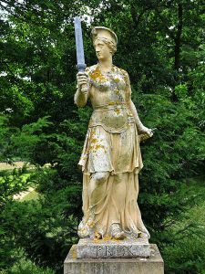 Statue of Frigg at Stowe, England, image by Dr Richard Murray