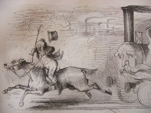The railway engine and the foxhunter - a prospective sketch