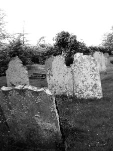 Canewdon Church graveyard BW