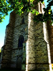 Canewdon Church Tower, image by Miss Jessel edited by Lenora