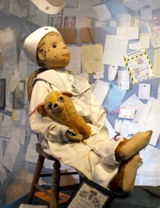 Robert the doll with letters from his victims, image source Tumblr