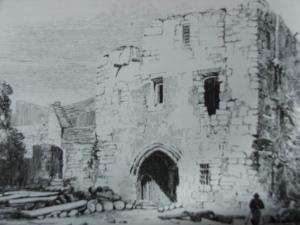 Newgate Prison, Newgate Street, c1823, the Witches were imprisoned here.