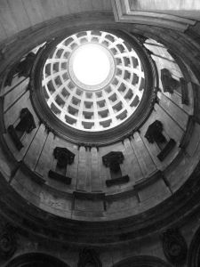 Ceiling and oculus of the Mausoleum, image by Miss Jessel edited by Lenora