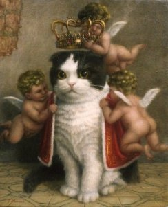 king of the cats painting