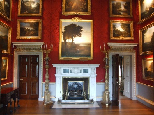 The Landscape Room. On his Grand Tour Thomas Coke collected many fine landscape paintings by Claude Lorrain and Poussin. Image by James Blakeley.