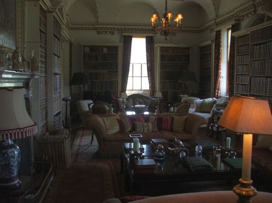 The Long Library.  Coke brought home many books from his Grand Tour.  This is now the Coke family's main sitting room.  Image by Lenora.