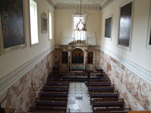 The Chapel in the hall.  Designed by Matthew Brettingham snr.  Image by James Blakeley.