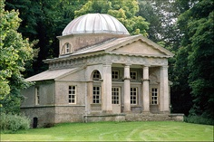 The Doric Temple sited within Obelisk Woods which were planted in the 1720's and 30's.