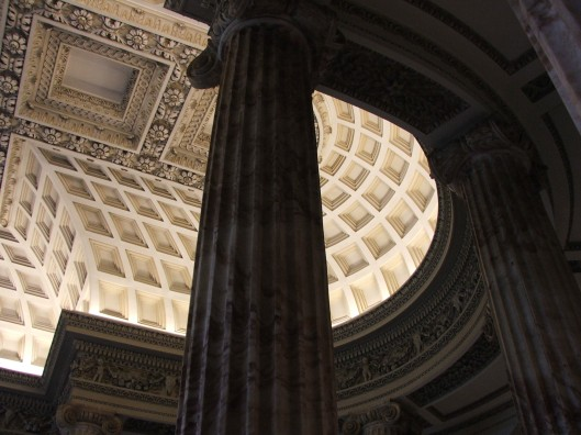 The Marble Hall.  The Fluted Columns may have been based on those from The Temple of Fortuna Virilis.
