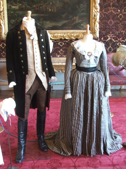 Costumes from 'The Dutchess' starring Keira Knightley on display in the drawing room or Saloon.  I forget which.  Image by Lenora.