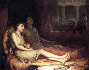 Sleep and his half brother death by John William Waterhouse 1874