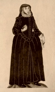Mrs Anne Turner on her way to the gallows.  Public Domain.