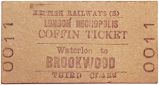 A Coffin Ticket - one way (obviously!). Image via John Clarke