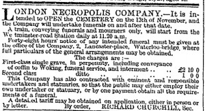 Article from the Times, 1854, image via John Clarke.