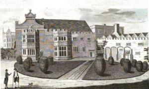 Hinchingbrooke, country home of the Earl of Sandwich c1787, public domain.