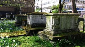 A row of impressive tombs