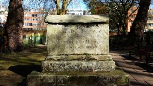 Dame Mary's monument - I wonder if they considered a fountain...