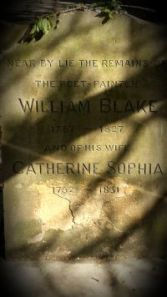 William Blake's simple headstone
