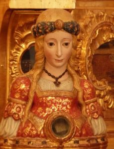 Female martyrs are often depicted as beautiful