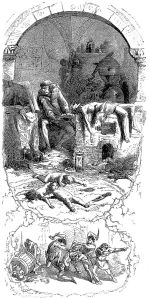 """Gilles de Laval, Lord of Rais, performs sorcery on his victims"", an 1862 illustration by Jean Antoine Valentin Foulquier via Wikimedia"