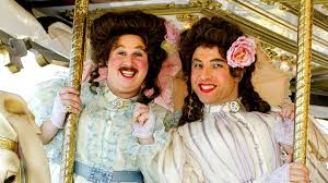 Matt Lucas and David Walliams as unconvincing transvestites Emily Howard and Florence Rose from Little Britain