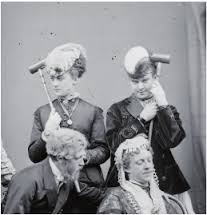 Fanny, right, and Stella, left, in theatrical mode.