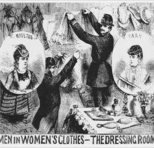 Police raid Fanny and Stella's wardrobe.