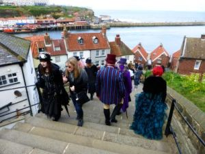 Heading down into the Whitby from St Mary's