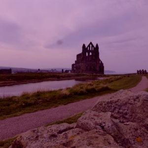 First glimpse of the Whitby Abbey.