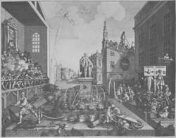 Hogarth puts the Cock Lane Ghost in the pillory