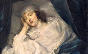 Lady Venetia Digby on her death bed by Van Dyke.