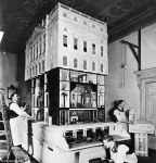 Queen Mary's Dolls house under construction. Image source