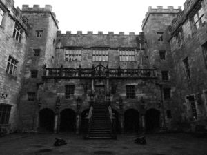 The Courtyard of Chillingham Castle.