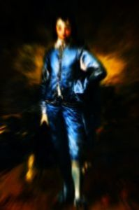 The Blue Boy. Adapted from the Gainsborough painting.