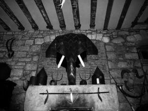 Eccentric decor abounds in Sir Humphrey's Castle.
