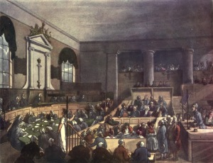Courtroom at the Old Bailey. Image via Wikimedia.
