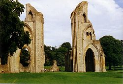 Glastonbury Abbey. Image from Wikimedia.