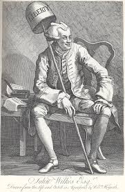 John Wilkes by Hogarth.
