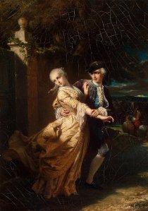 Lovelace Abducting Clarissa Harlowe - Louis Edouard Dubuf