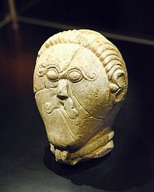 Celtic stone head. Image via Wikimedia.