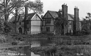 Old Postcard of Wardley Hall.