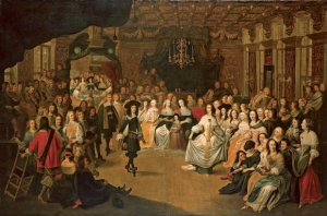 Hieronymus Janssens, Charles II Dancing at a Ball at Court, c. 1660, RCIN 00525.